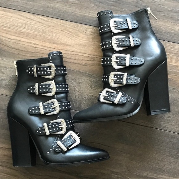 19f7bff685f Steve Madden Comet Studded Western Booties